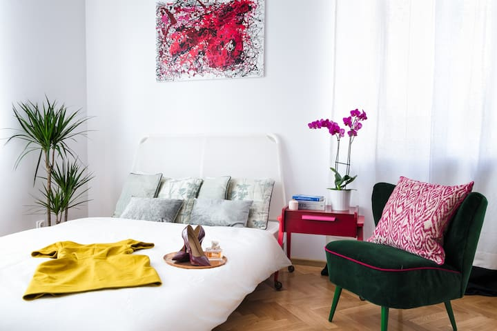 2rooms apt.for 4 in green Żoliborz