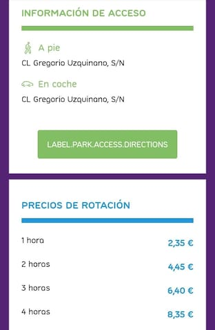 San Roque Parking- (Prices)