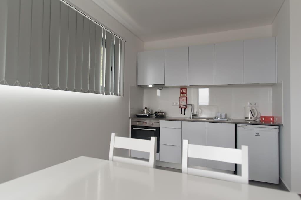 Cozinha e sala estar