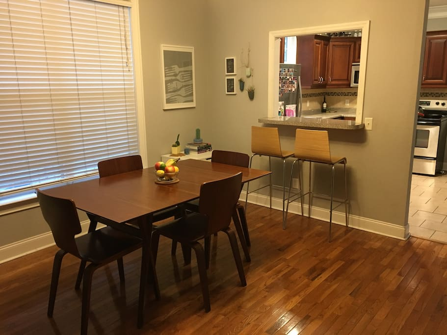 Dining room w/ window to kitchen