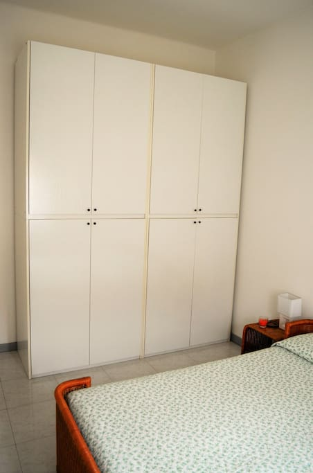 Large wardrobe with hangers