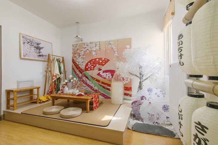 「想筑·山鸟和色」家庭影院 日式榻榻米muji简约风格湖景房 | 投影 | 和服拍照 | 停车方便