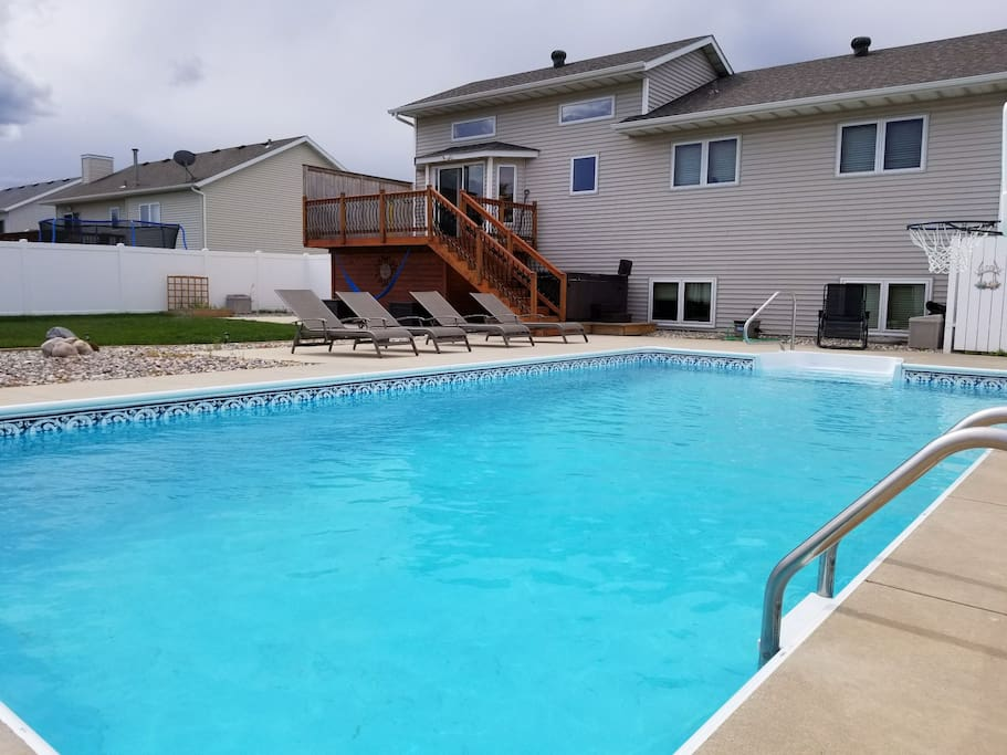 Private backyard pool. (Open seasonally from approximately May 15th-Sep15th)