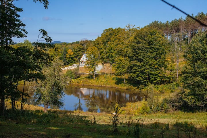 The Cottage is very private and overlooks one of the four ponds on the farm property.