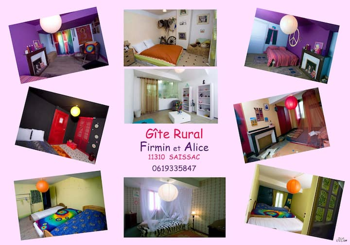 Gîte FIRMIN ET ALICE CHAMBRES A THEME 13 couchages