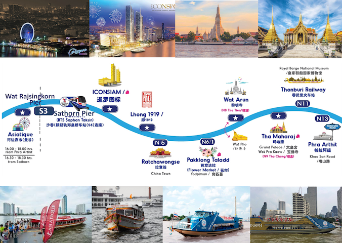 Wat Arun Pier is 2km away from our house, to take the Chao Phraya Express Boat or a Tourist Boat visits the China Town or Asiatique.There is also a free shuttle boat to Asiatique or IconSiam from Sathorn Pier where is connected to BTS Saphan Taksin.