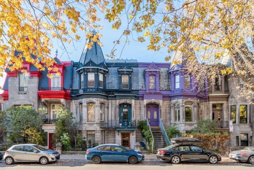Colourful homes of Le Plateau Mont-Royal
