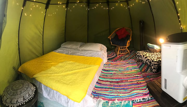 Cozy bell tent near beaches.