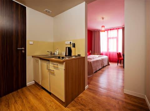Ubytování v srdci Prahy 1 s vlastní kuchyňkou
