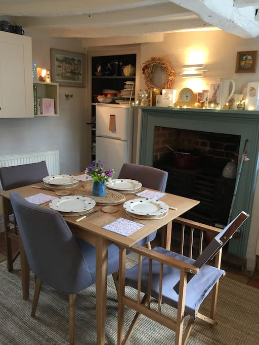 The cottage kitchen...