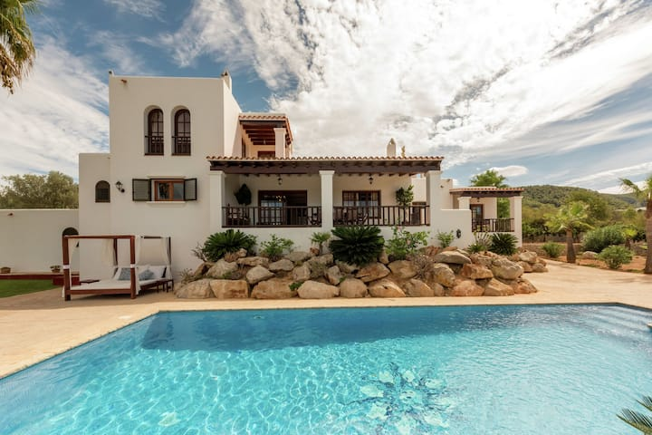 Alluring Mansion in Cala Tarida with Private Pool and Garden