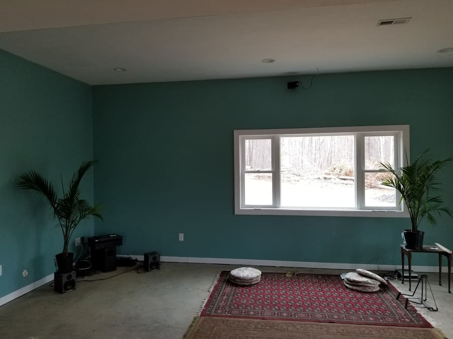 Wired for sound, a yoga studio/ meditation and kirtan room