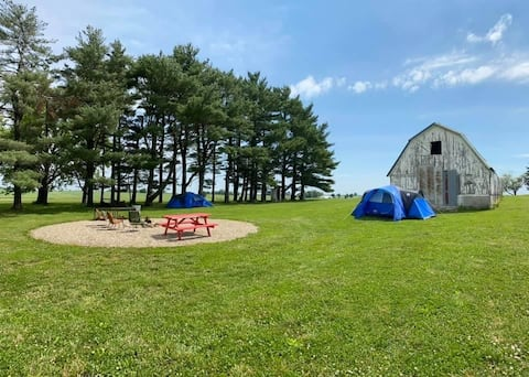 Gardner Family Farm and Iowa Hemp Farm Stay Tent 2
