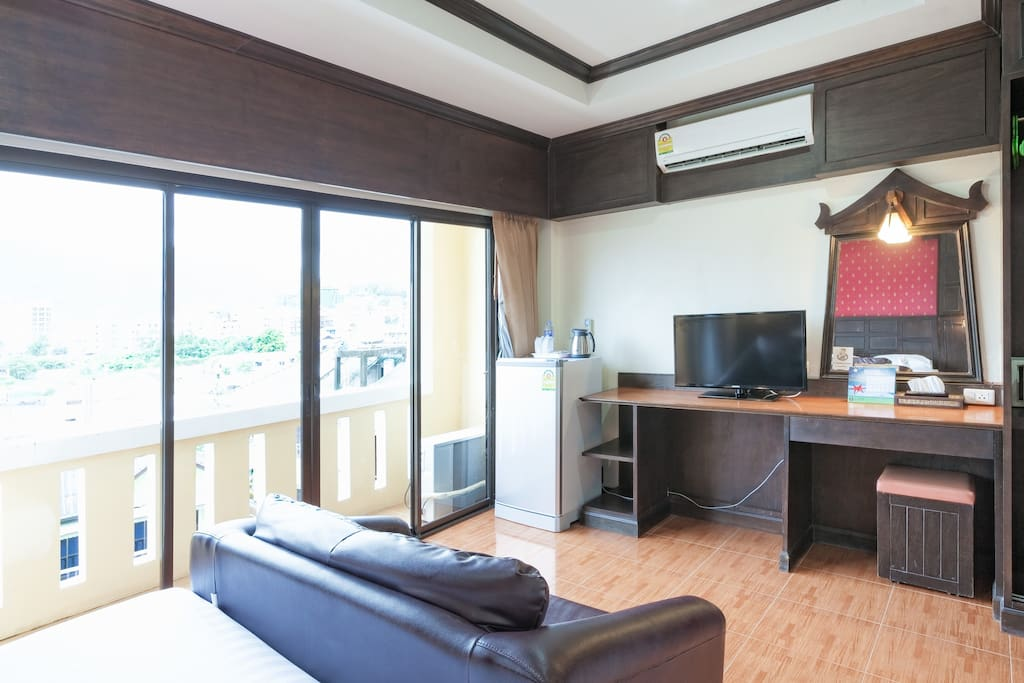 Fully Air Conditioned, Refrigerator and TV