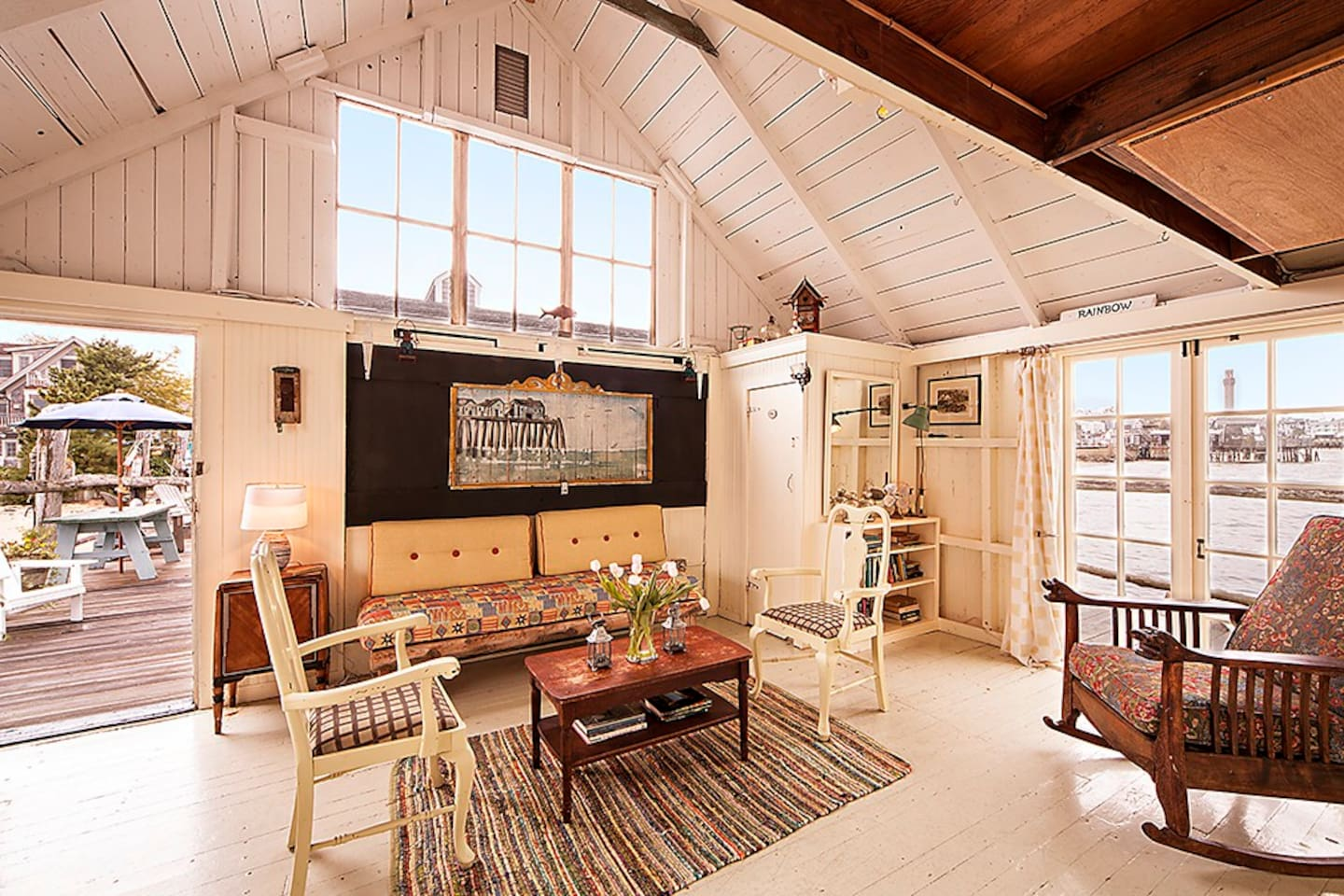 Rustic Cabin located over Provincetown Harbor