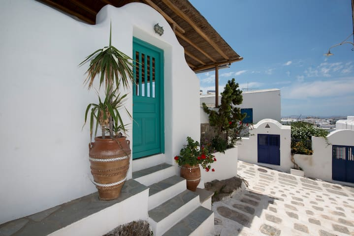 2BR Hibiscus Rosa House Mykonos Town Best Location