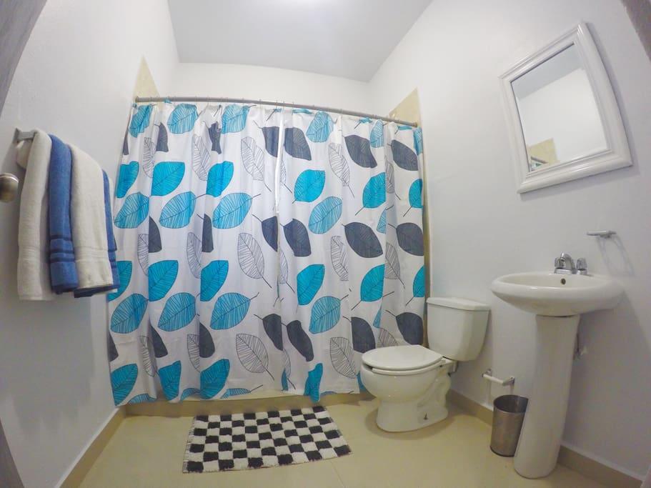 Bathroom. Make sure you bring your toiletries! :)