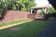Backyard & Gazebo with BBQ grill