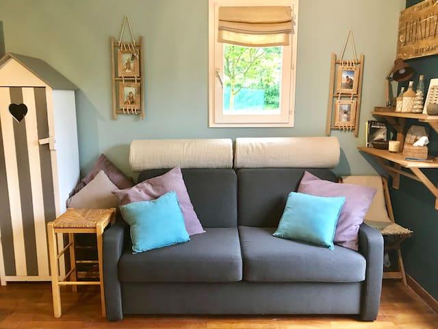 Appartement ensoleillé avec jardin