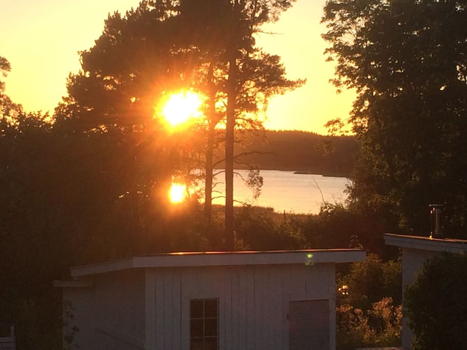 Sunset from the balconny/front door