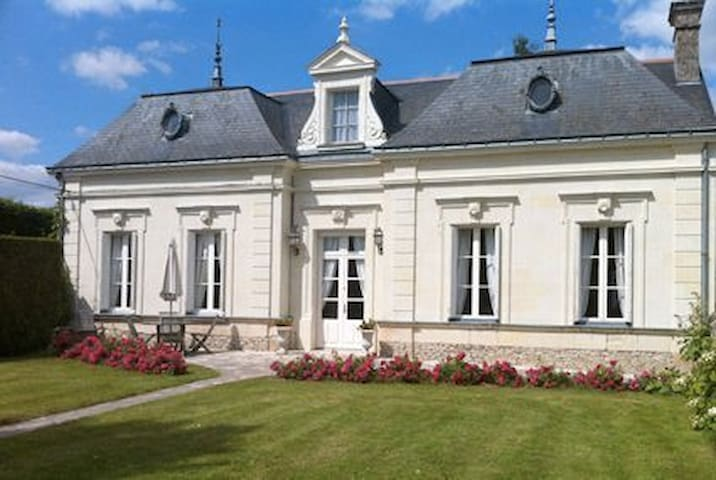 Loire Valley, 19th century country home - Longué-Jumelles - Villa