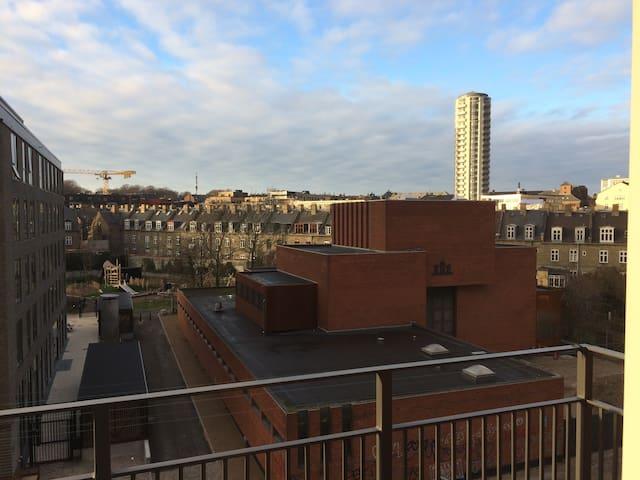 Two balconies in central Copenhagen