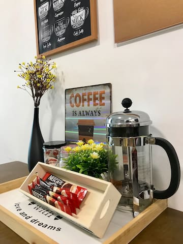 A coffee corner for coffee lover. We provide complementary coffee and tea too!