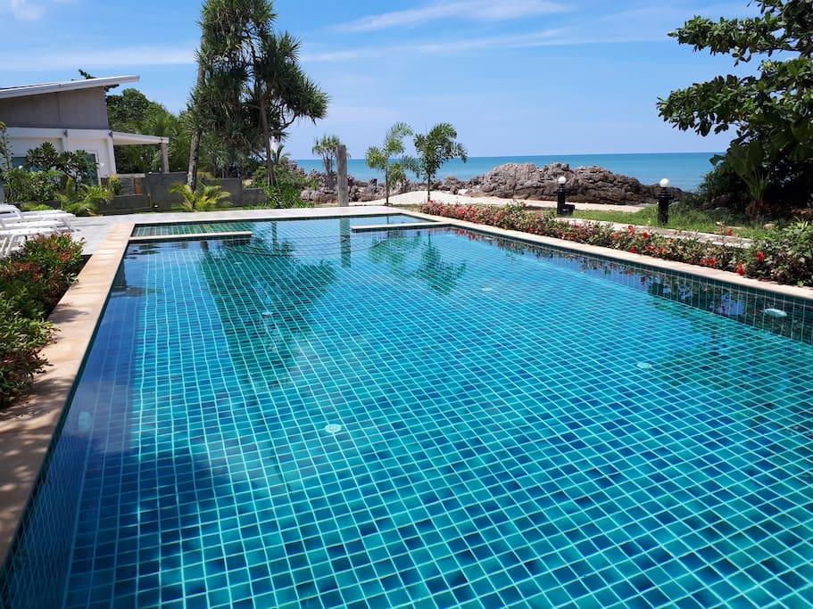 Communal salt water pool