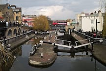 Camden Lock - you can walk along the canal to Primrose Hill and see all of London from the top.