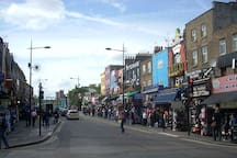 Camden High Street - always busy.