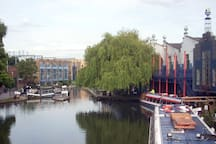 Camden Lock Market that is packed with people all the time.
