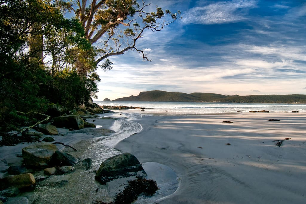 Lumeah is located at Adventure Bay on picturesque Bruny Island