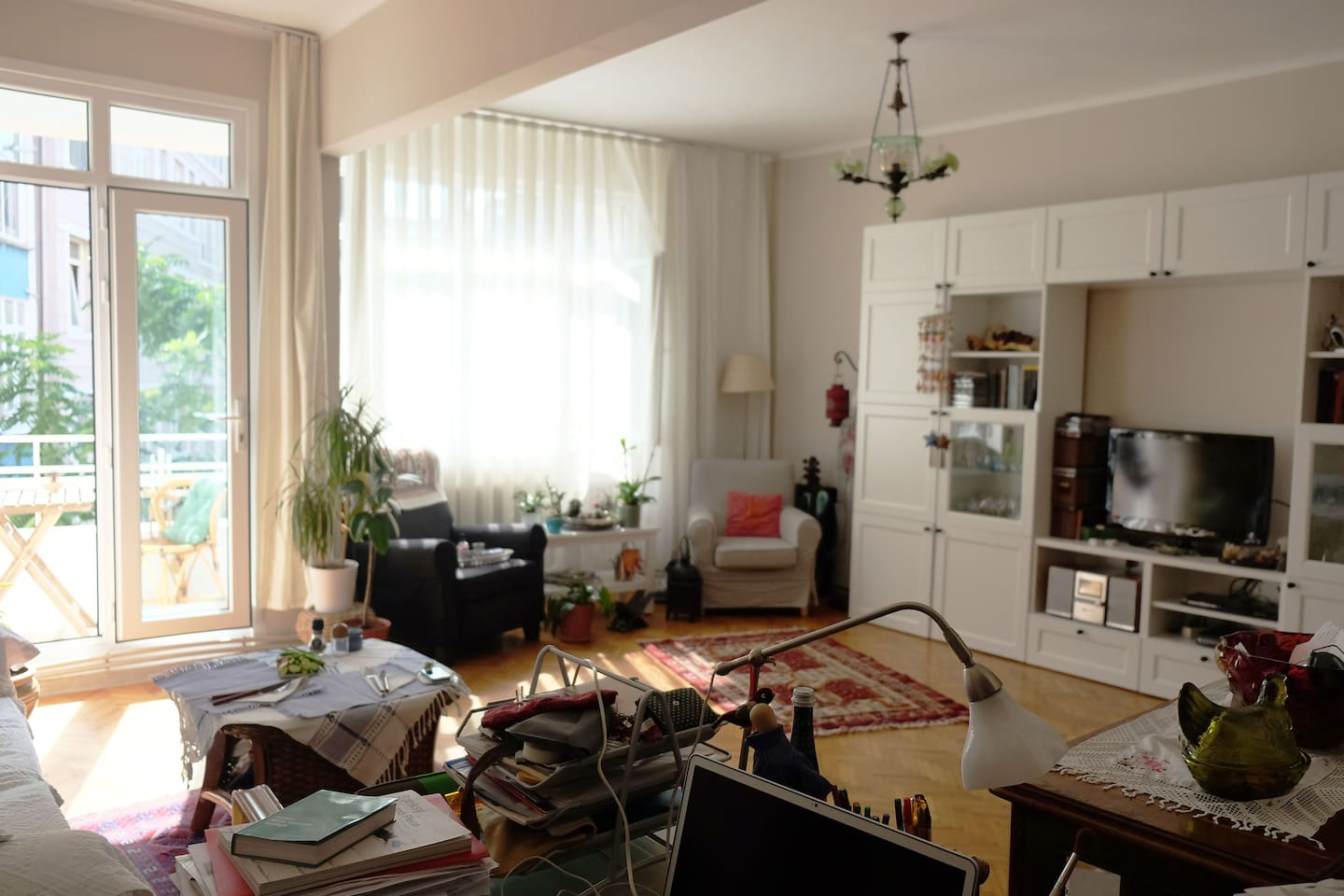 Living room from working desk