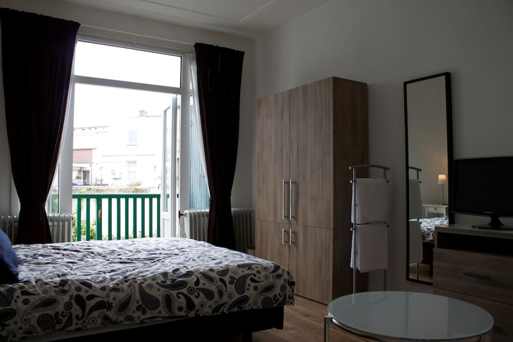 Roomview with small balcony.