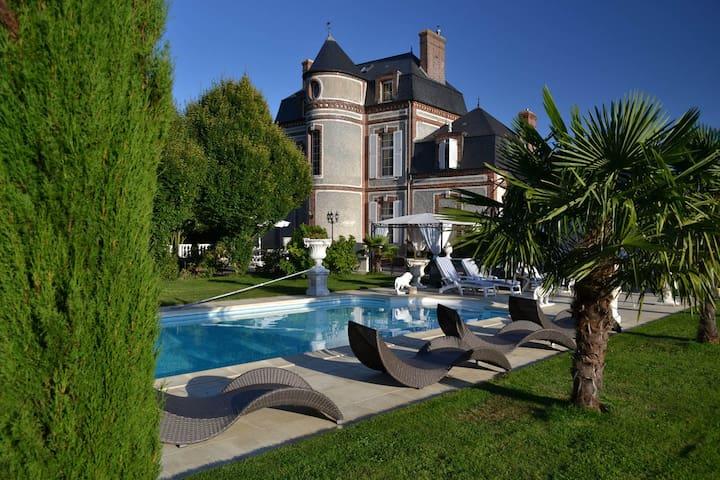 Le Château du Mesnil - Chambre-double - La Vieille-Lyre - Aamiaismajoitus
