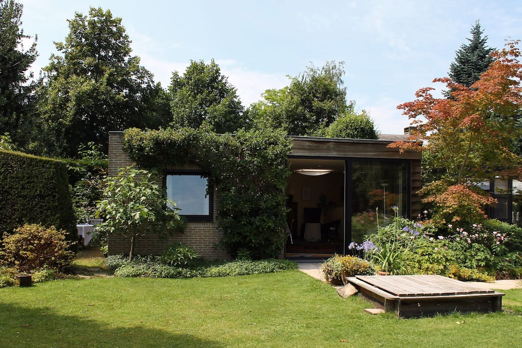 Outside view of the Garden studio.
