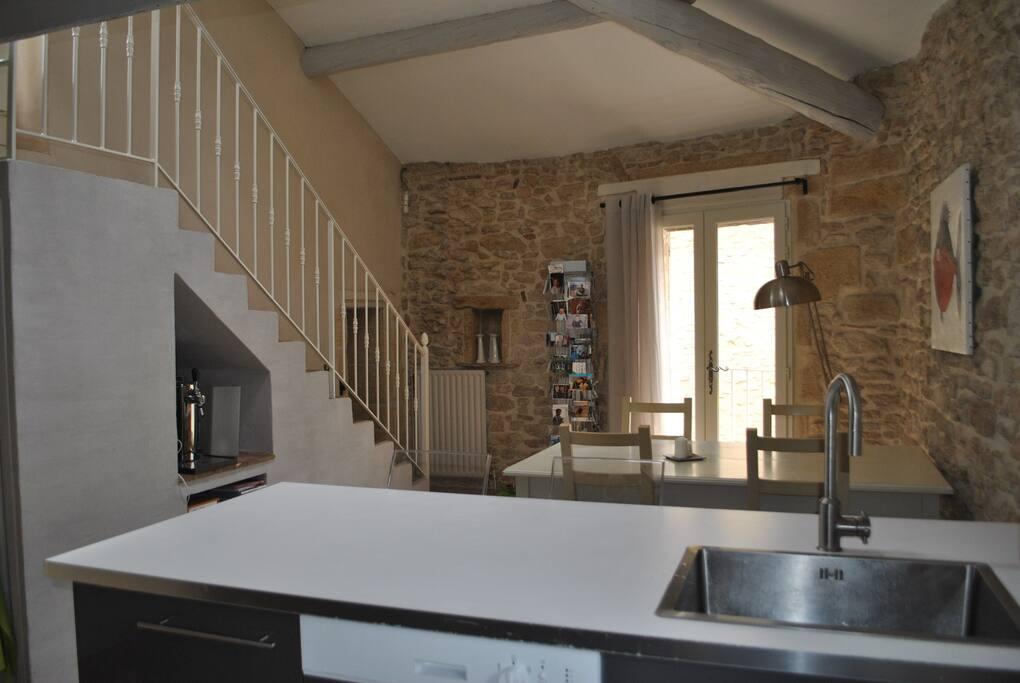 l'escalier permettant d'accéder à la terrasse