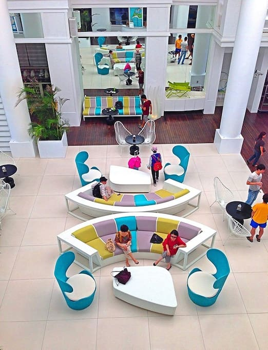 The Lobby of the Resort and Condo unit. Condo Guests share the lobby with Hotel guests as well.