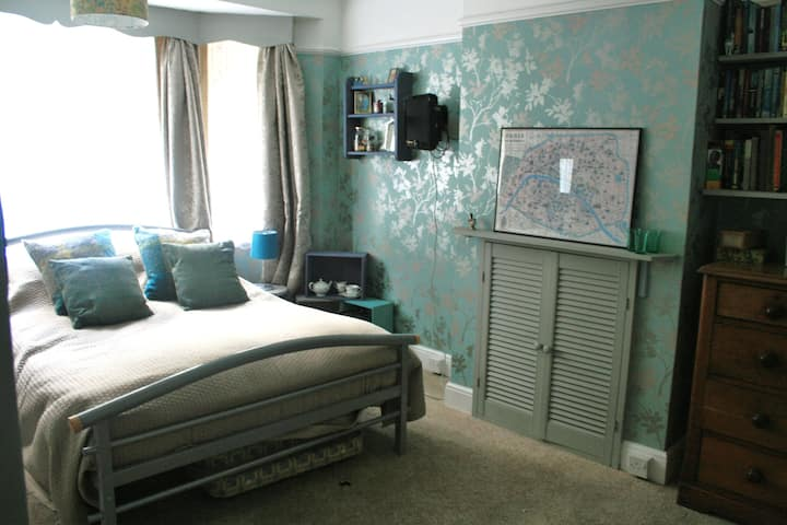 Spacious double bedroom.