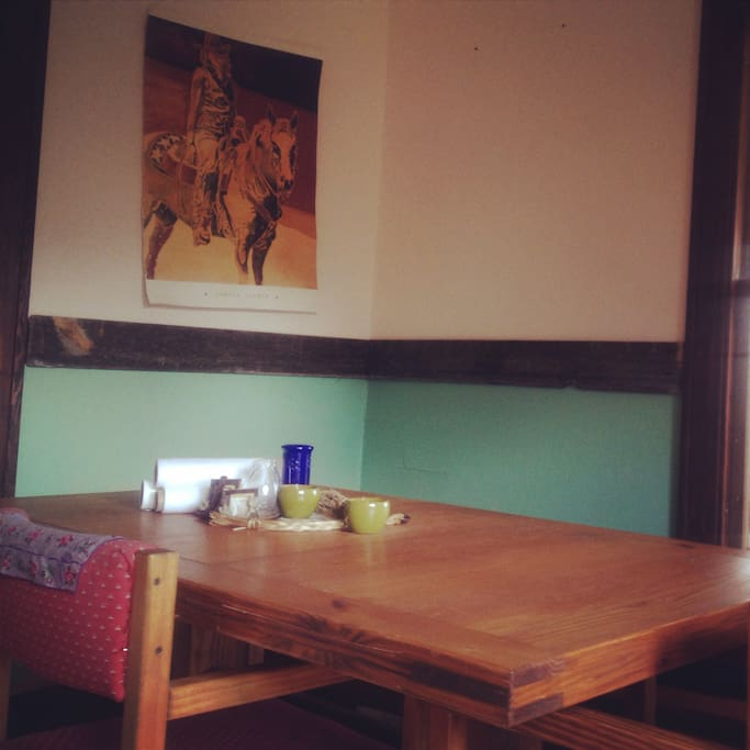 cowgirl kitchen dining area