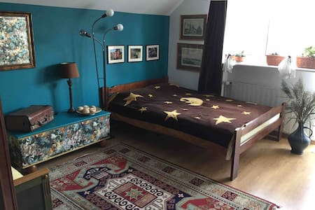 Two-person + kid bedroom in cosy familyhouse