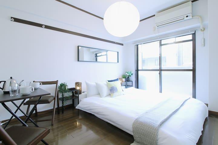 Modern apartment near Hondori shopping st 3ppl