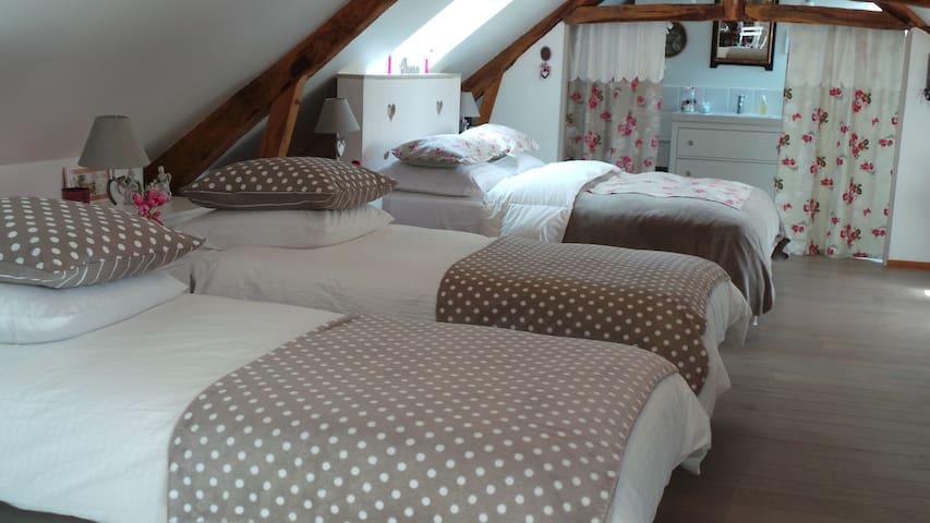 Belle demeure en Suisse Normande - La Fresnaye-au-Sauvage - Bed & Breakfast