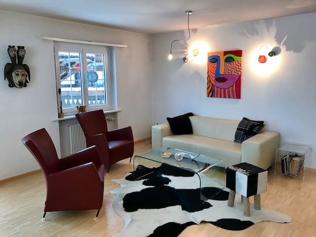 modern flat in Küblis - 20 Minutes from Davos - Küblis - Byt