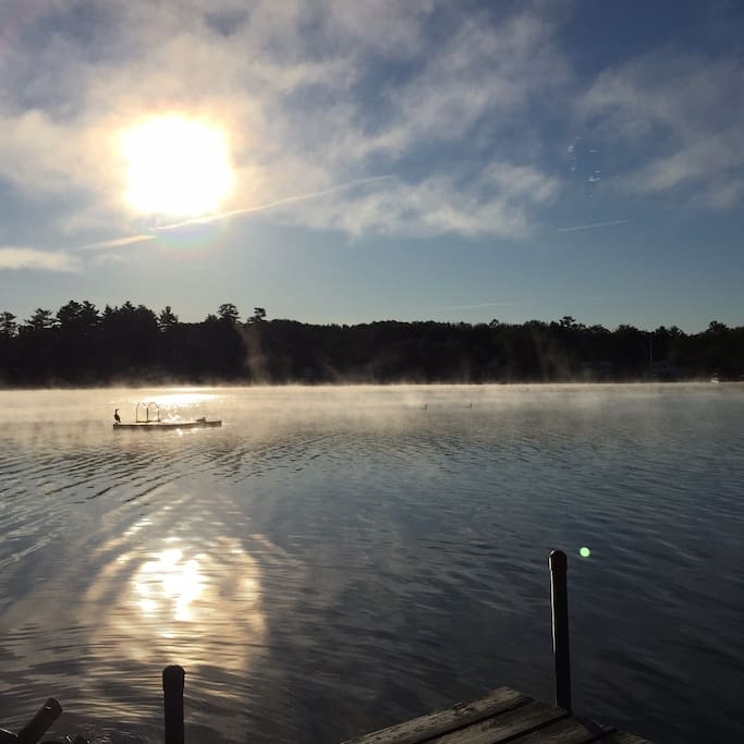 Early morning on the lake.
