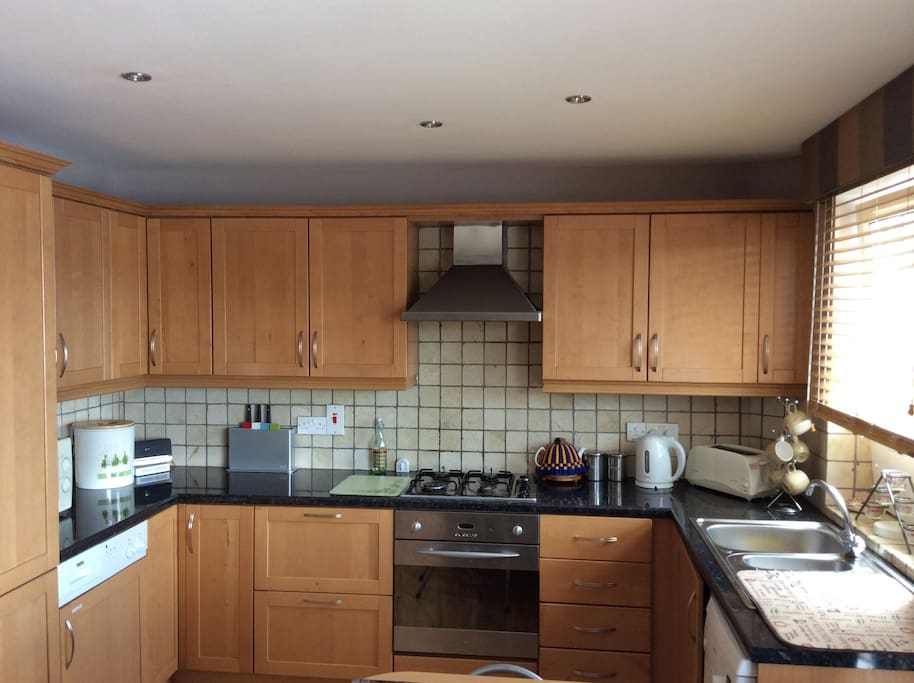 Fully fitted modern kitchen