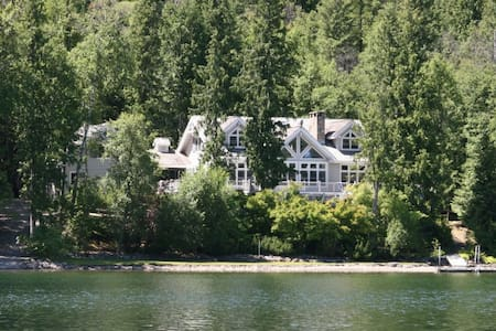Swan Shores Lodge 7 bdrm Lakefront - Bigfork - Haus