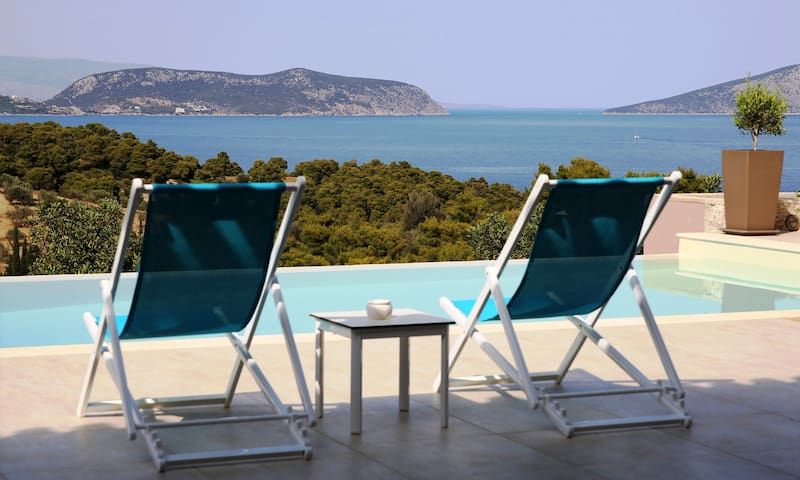 Villa Emmelia & Guesthouse Amazing View with Pool - Porto Cheli - Βίλα