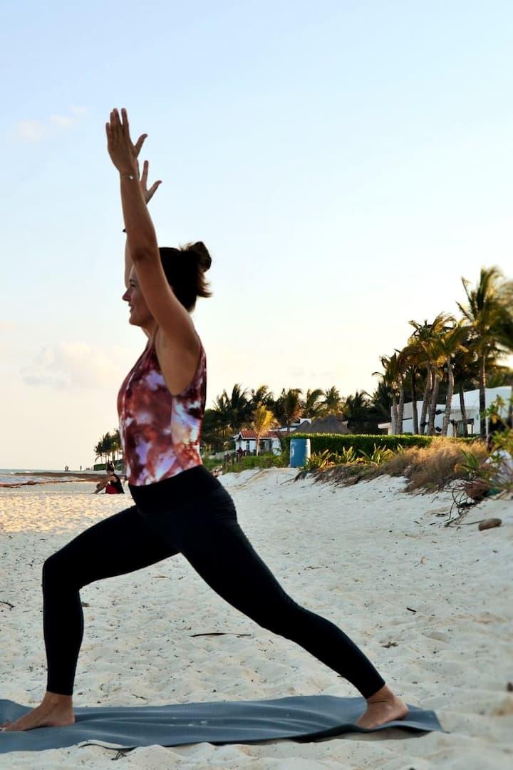 Yoga on Playacar beach
