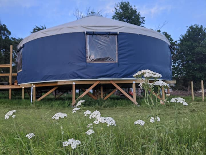 Big Blue off-grid Yurt